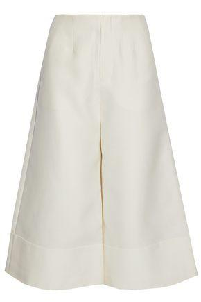 Co Tton, Silk And Cashmere-blend Culottes Ivory