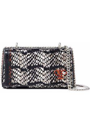 Emilio Pucci Woman Painted Snakeskin Shoulder Bag Black