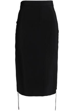 Antonio Berardi Woman Lace-up Crepe Pencil Skirt Black