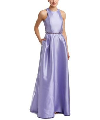 ml Monique Lhuillier Embellished Gown In Purple