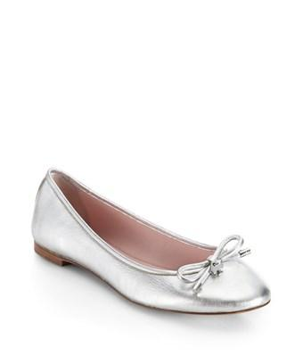 Kate Spade New York Womens Willa Too Calf Hair Pointed Toe Loafers In Silver