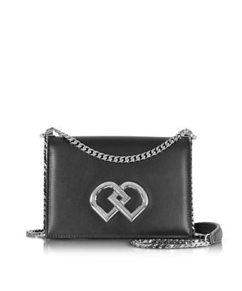 Dsquared2 Women's  Black Leather Shoulder Bag