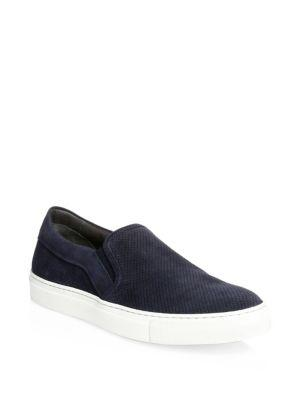 To Boot New York Buelton Slip-on Leather Sneakers In Blu Fon B