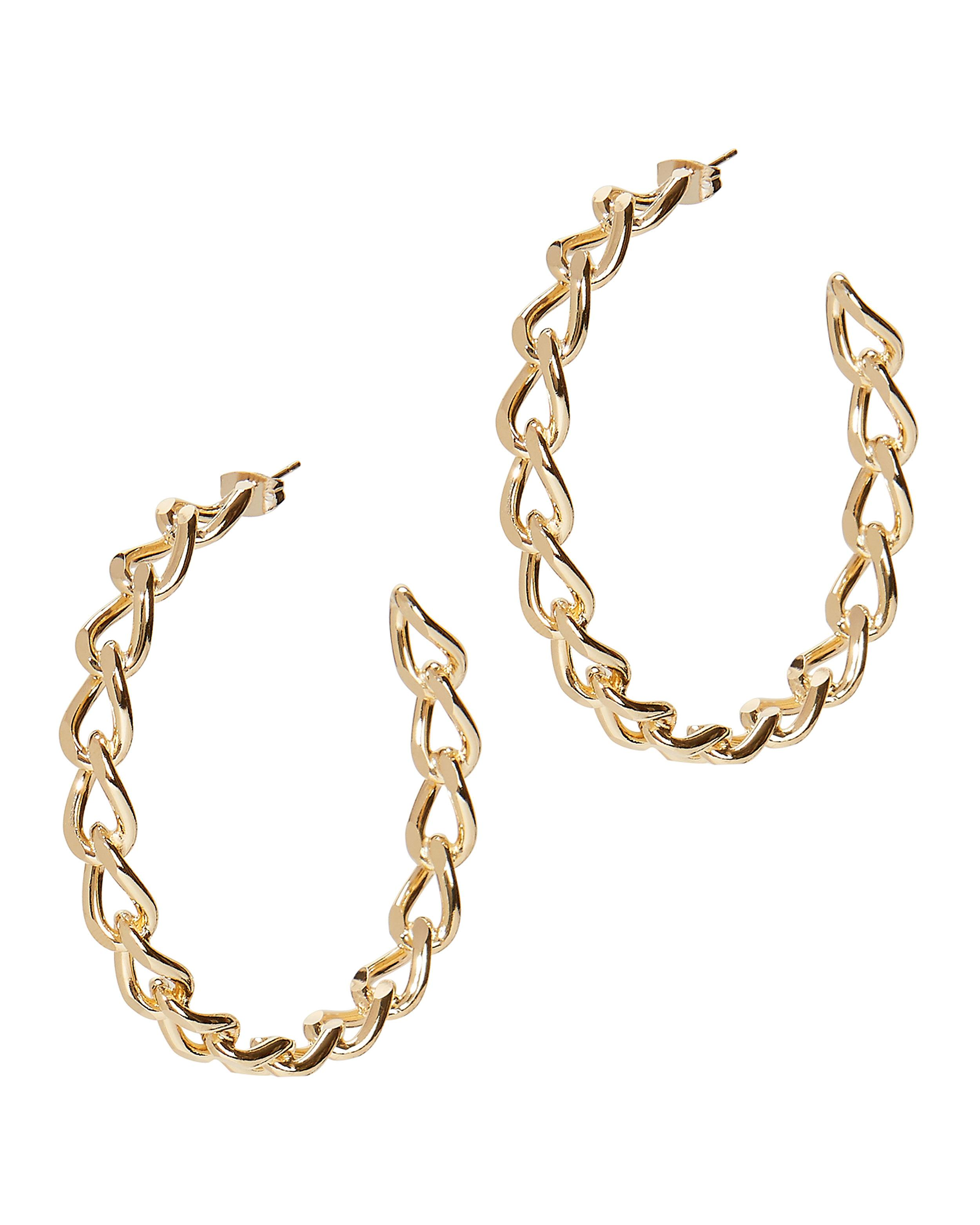 Rosantica Curved Chain Link Hoops