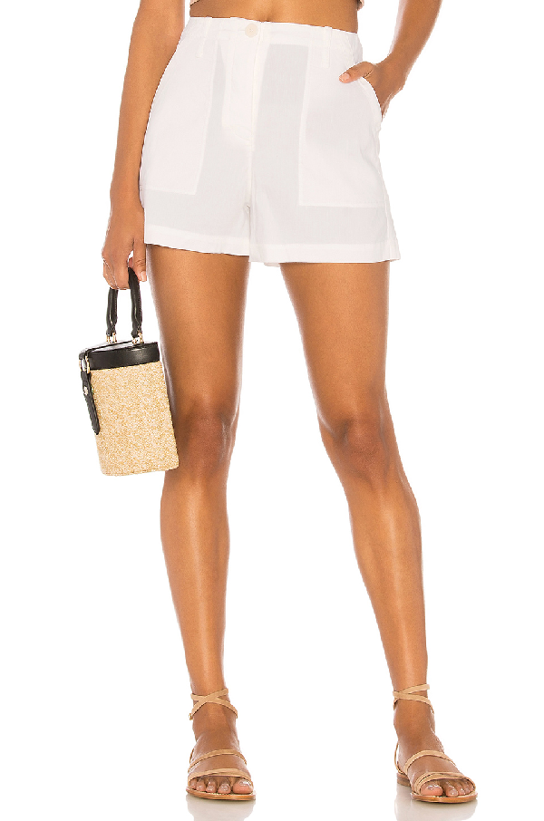 Theory Linen-blend Cargo Shorts In White