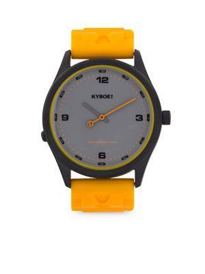Kyboe! Martini Series Series Bright Stainless Steel Watch In Black Yellow