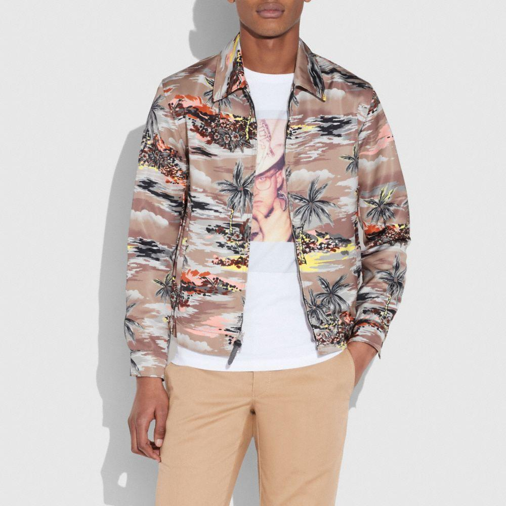 Coach Skaterjacke Mit Hawaii-print In Hawaiian Brown