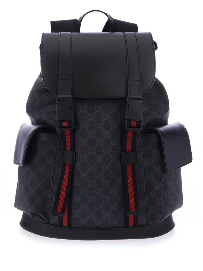 Gucci Soft Gg Supreme Backpack In Black
