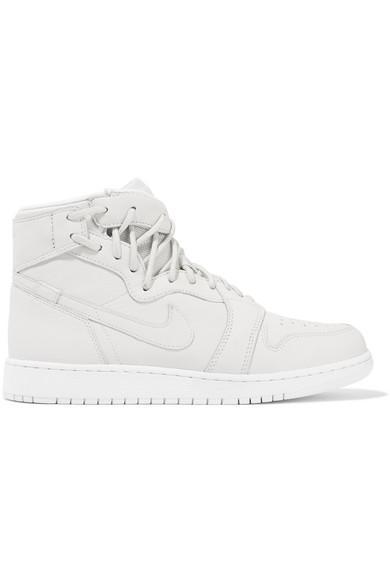 Nike The 1 Reimagined Air Jordan 1 Rebel Suede-trimmed Leather Sneakers In White