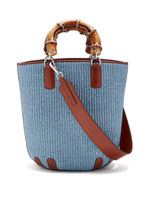 Weekend Max Mara Calao Tote Bag In Light Blue