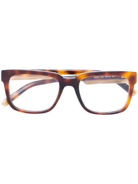 Salvatore Ferragamo Eyewear Tortoiseshell Effect Eye Glasses - Brown