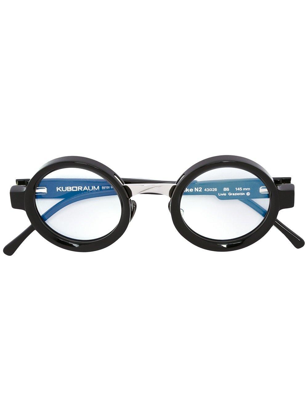 Kuboraum Round Frame Glasses In Black