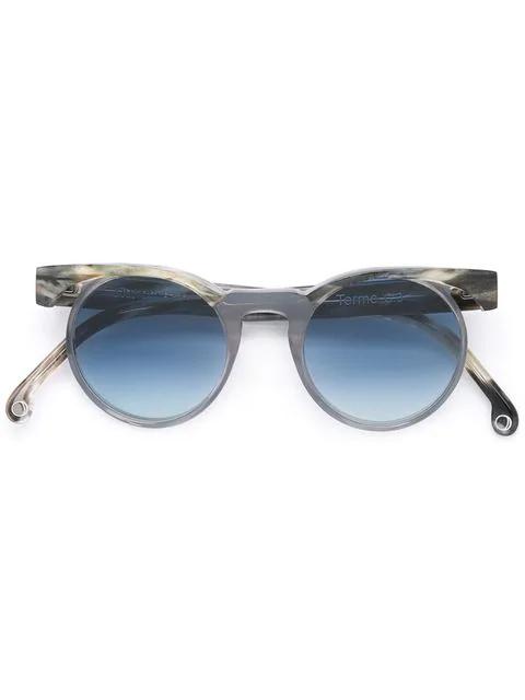 Monocle Eyewear 'terme' Sonnenbrille In Grey