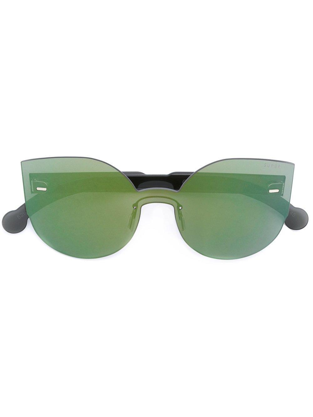 Retrosuperfuture Cat Eye Mirrored Sunglasses In Metallic