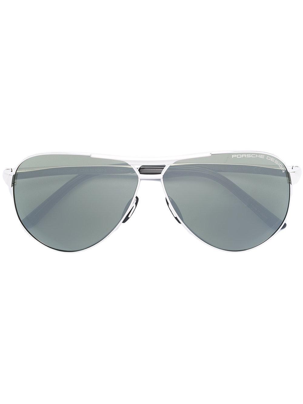 Porsche Design Aviator Sunglasses - Metallic