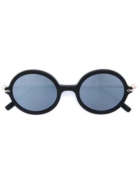 Matsuda Round Frame Sunglasses In Black