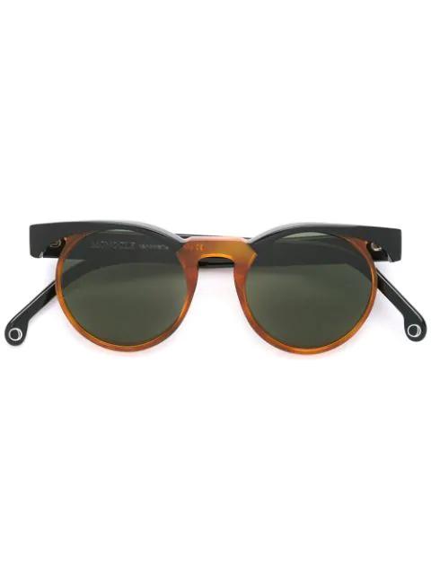 Monocle Eyewear 'terme' Sunglasses In Black