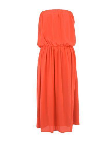 Semicouture 3/4 Length Dresses In Orange