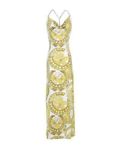 Versace Jeans Long Dress In Ivory
