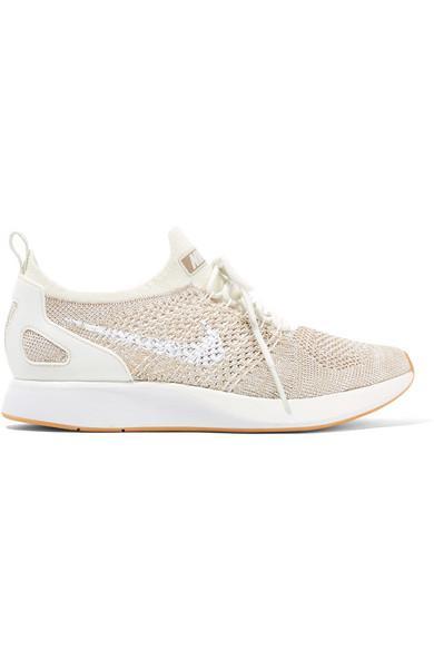 Nike Air Zoom Mariah Flyknit Sneakers In Beige