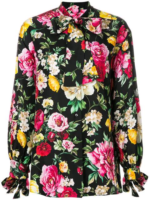 Dolce & Gabbana Floral Print Blouse In Multicolour