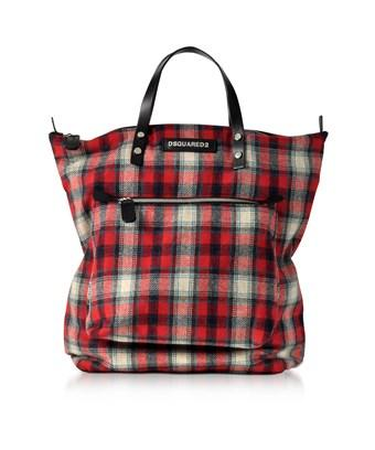 Dsquared2 Men's  Red Wool Tote
