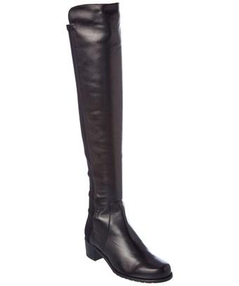 Stuart Weitzman Reserve Leather Boot In Black