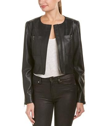 Bcbgmaxazria Zipper Jacket In Black