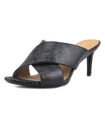 Calvin Klein Lucie Women  Open-toe Leather Black Mules