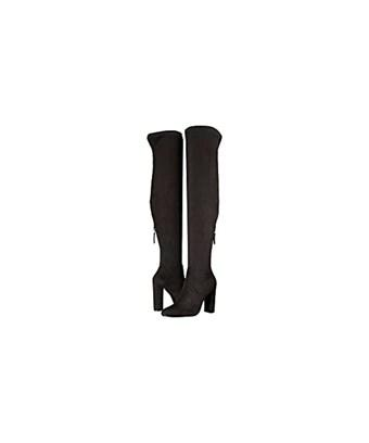 Steve Madden Womens Emotions Almond Toe Over Knee Fashion Boots In Black