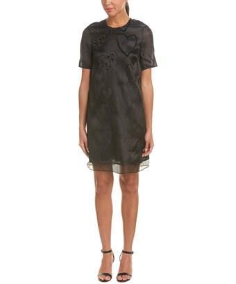 Escada Silk-blend Shift Dress In Nocolor