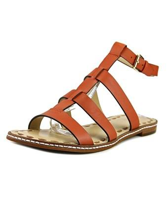 Michael Michael Kors Fallon Flat Women Open-toe Leather Orange Slingback Sandal