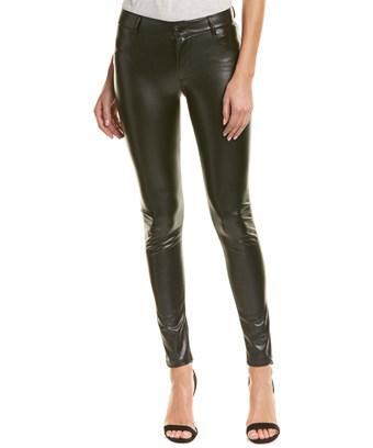 James Jeans James Twiggy Dancer Ebony Leatherette Skinny Leg In Black