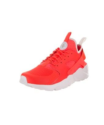 Nike Men's Air Huarache Run Ultra Running Shoe In Bright Crimson/pale Grey White