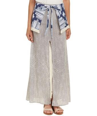 Stevie May Ikat Maxi Skirt In White
