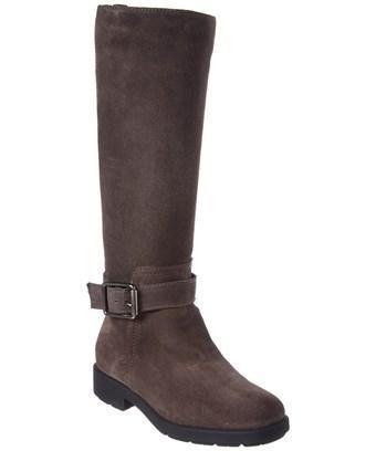 Aquatalia Lauryn Waterproof Suede Boot In Grey