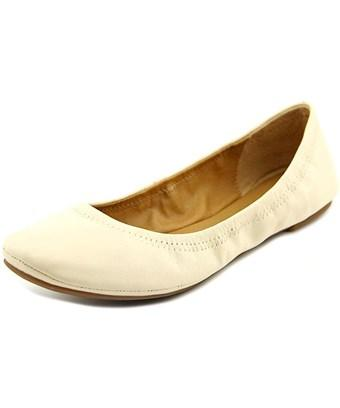 Lucky Brand Womens Emmie Leather Closed Toe Ballet Flats In Silver
