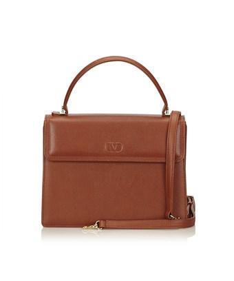 Valentino Garavani Pre-owned: Leather Handle Bag In Brown
