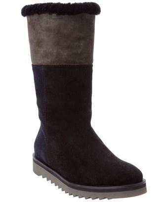 Aquatalia Paulina Waterproof Suede Boot In Black