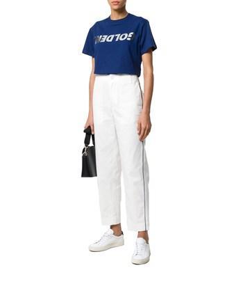 Golden Goose Women's  Blue Cotton T-shirt