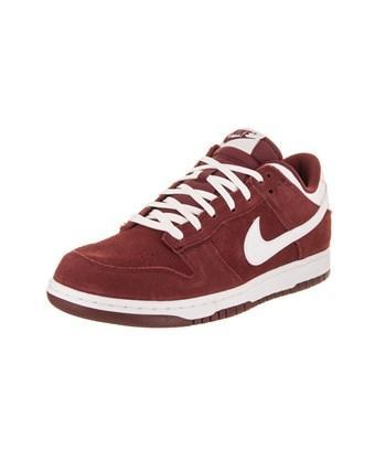 Nike Men's Dunk Low Skate Shoe In Team Red/white