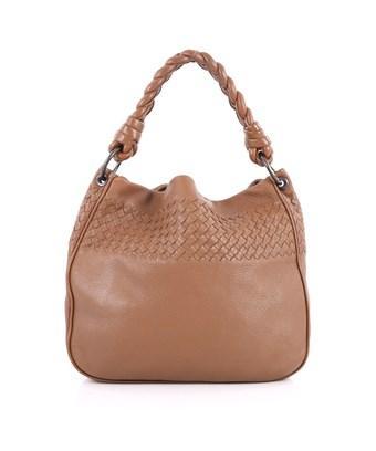 Bottega Veneta Pre-owned: Braided Handle Hobo Cervo With Intrecciato Detail In Brown