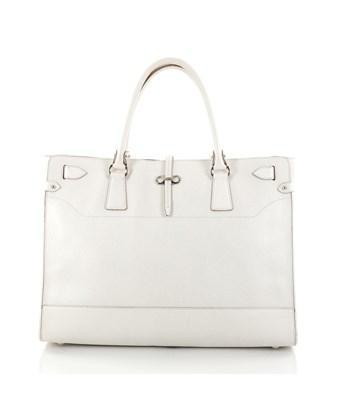 Salvatore Ferragamo Pre-owned: Briana Tote Leather Large In White
