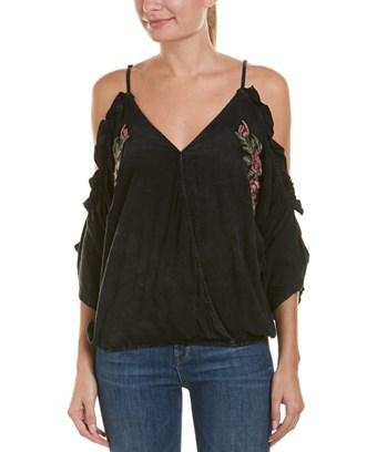 Vintage Havana Cold-shoulder Top In Black