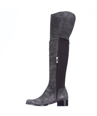 Charles David Womens Giza Leather Closed Toe Over Knee Fashion Boots In Grey