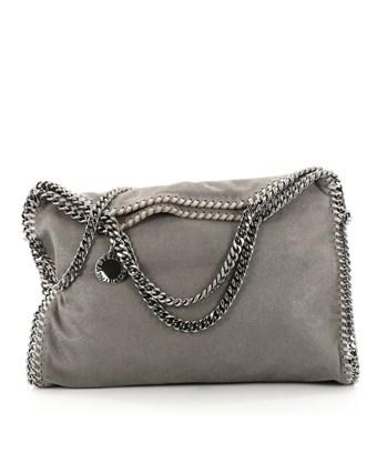 Stella Mccartney Pre-owned: Falabella Fold Over Bag Shaggy Deer In Gray