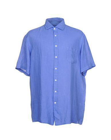 Hackett Linen Shirt In Pastel Blue