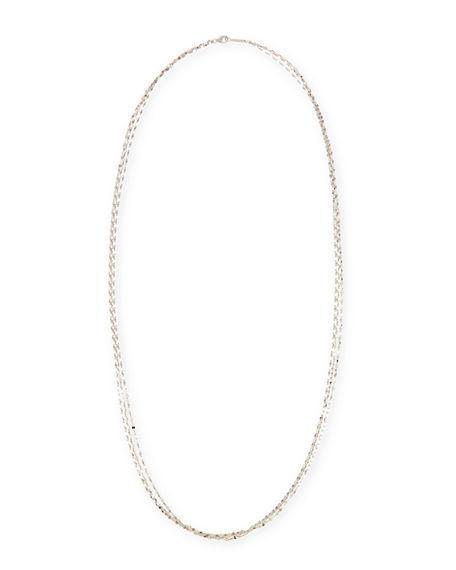 Lana Blake 3-strand 14k Gold Necklace In White Gold