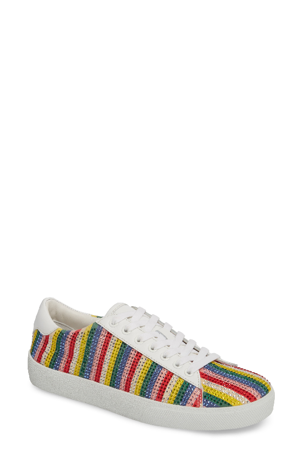Alice And Olivia Cassidy Crystal Embellished Sneaker In Multi