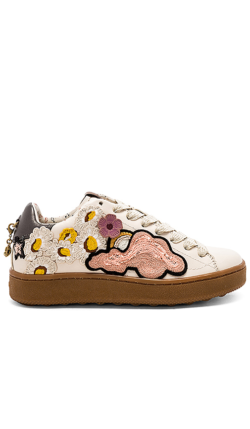 Coach Cloud Patches Sneaker In Ivory